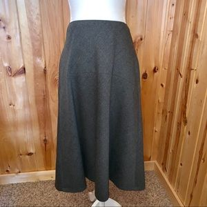 Talbots gray wool blend midi/maxi circle skirt 12